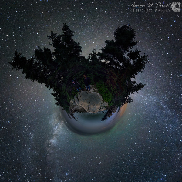"""Little Planet"" or stereographic projection"
