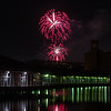 Dundee Baxter Park fireworks viewed from City Quay