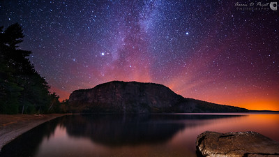 Milky Way over Mount Kineo