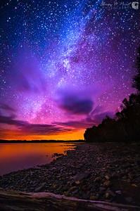 Milky Way over Spencer Bay