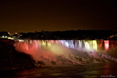 Lights on the American Falls