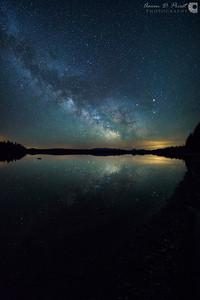 Milky Way Reflection over Mt. Katahdin