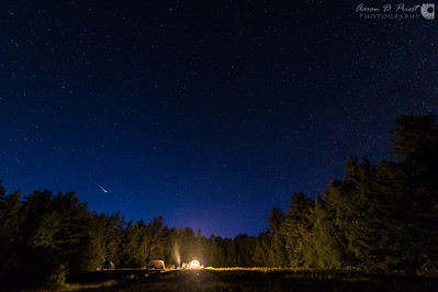 Meteor over Campsite