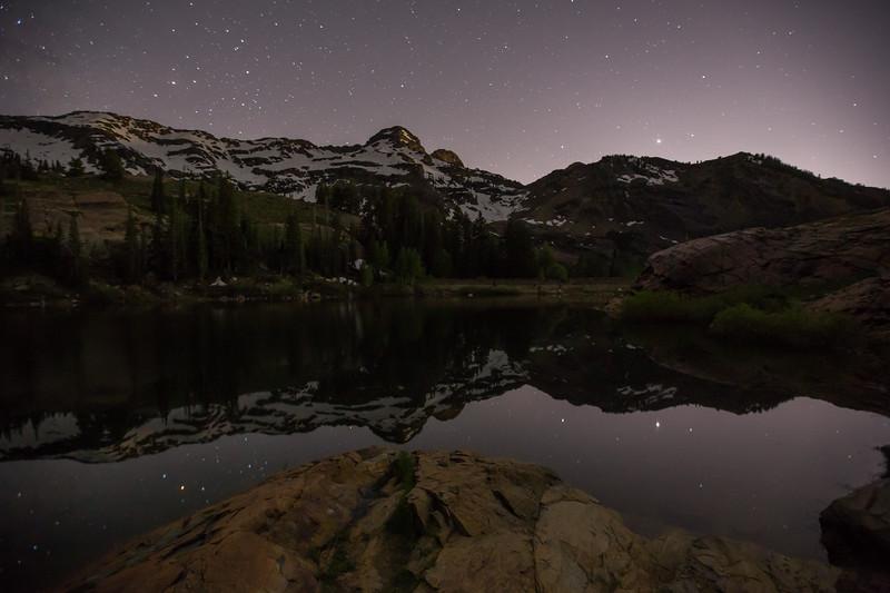 Dromedary Peak Reflection at Night