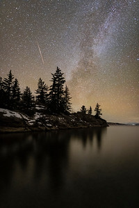 Early November Milky Way over Eleven Mile Reservoir....with a shooting star thrown in for good measure.