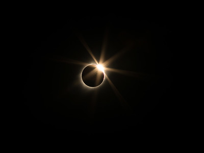 Diamond ring effect, Solar Eclipse, Scottsbluff, NE