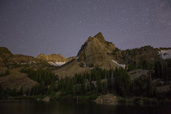 Sundial Peak at Night