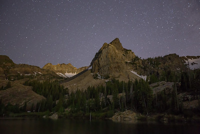 Sundial Peak at Night