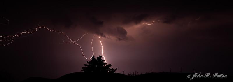 Wopsononock Mountain lightning