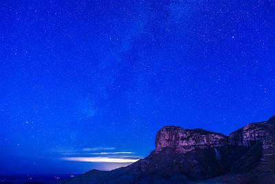 Ghost of the Milky Way over El Capitan