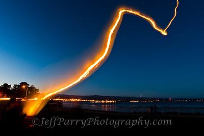 Sky lantern over Santa Cruz. In loving memory of Katherine Sobun Thanas, Roshi. Abbot of Santa Cruz Zen Center and founder of the Monterey Bay Zen Center passed on this day. June 24th, 2012.