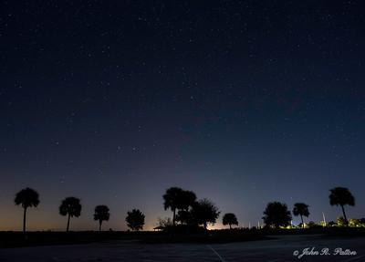 Night. Stars. Florida. USA.
