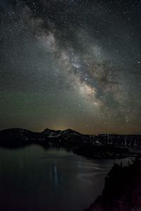 After surviving the mosquitoes, it was all quiet during this summer night at Crater Lake