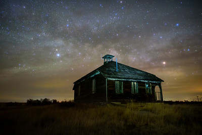 Abandoned school house, Aroya, CO.