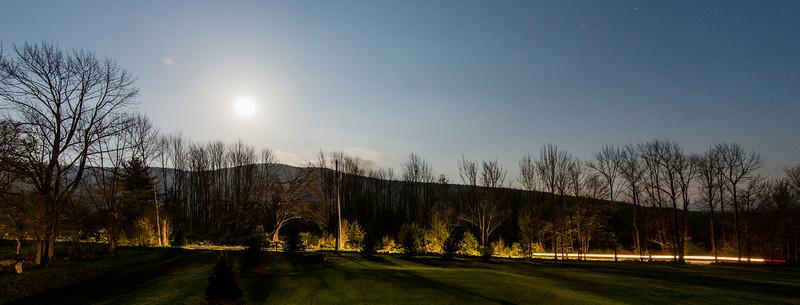 Moonrise over mountain