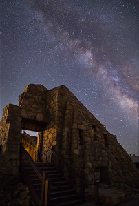 Milky Way over Crest House atop Mt. Evans at 14,000 ft. Cold and windy night...