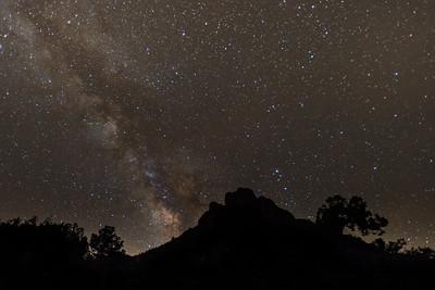 Casa Grande and Milky Way, Big Bend NP.