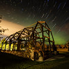Star Trails Over Stone Barn