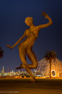 Bliss Dance Statute at Treasure Island