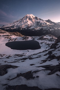 Day approaches at Mt Rainier - Washington