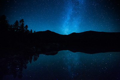 Filming for BBC #EarthOnLocation in #Maine #NewEngland On a mission to film moose we camped beside sandy stream pond in Baxter state park. Many nights I slept on the shore, as I captured timelapses of the stars passing overhead - their celestial dance was beautifully reflected in the still waters. #Stars #Night #Astrophotography #Astro