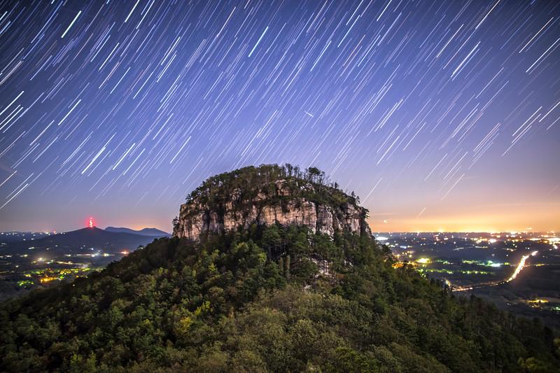 Pilot Mountain Star Trails