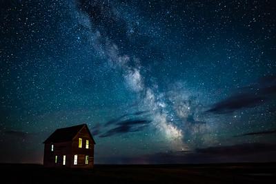 Milky Way Over Abandoned Homestead