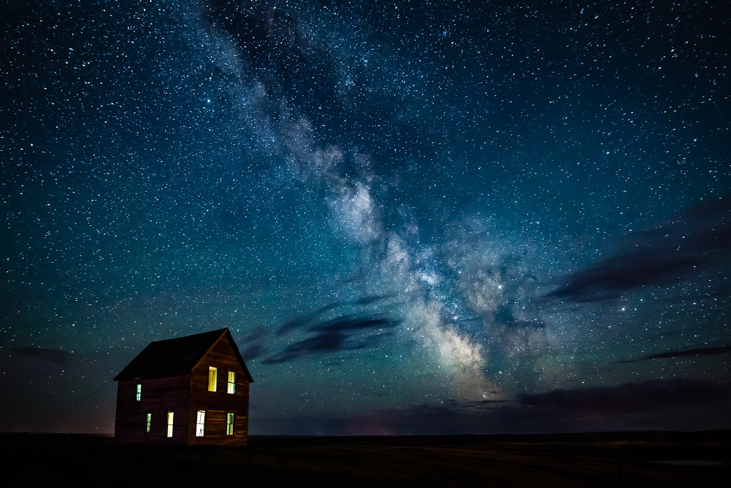 Milky Way Over Abandoned Homestead