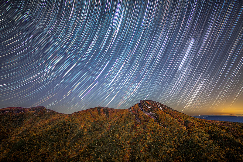 Star Trails Above Hawksbill