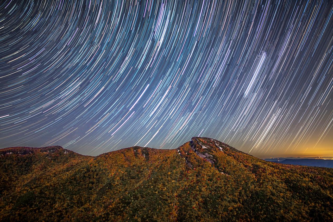 Star Trails Above Hawksbill