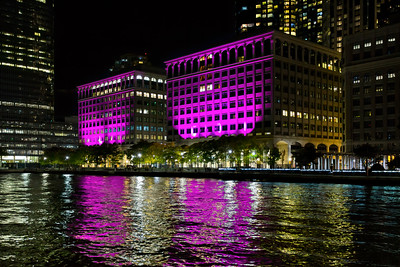 Night moves along the Jersey City / Exchange Place waterfront.