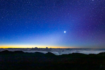 Dawn on Haleakala observatory, Hawaï