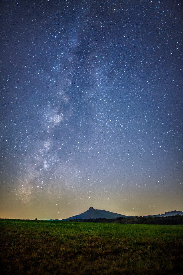 Pilot Mountain under the Milky Way