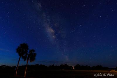 Night. Stars. Milky Way. Everglades National Park. Florida. USA.