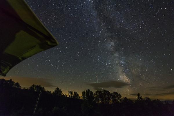 Comet with Milky Way
