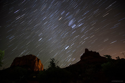 Star Trails over Bell Rock