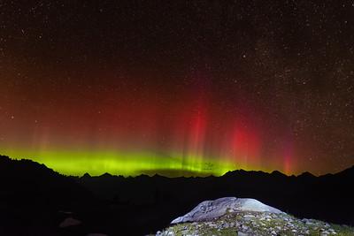 Aurora Borealis, Mt Baker, WA.