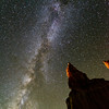 Milky way over hoodoos