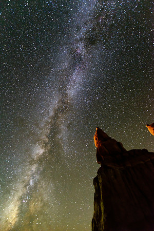 """Milky way over hoodoos"""