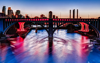 Red Bridge at Sunset
