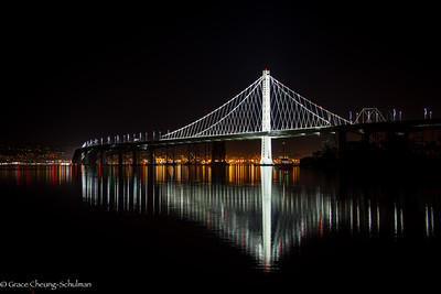 Bay Bridge at Night, San Francisco, California