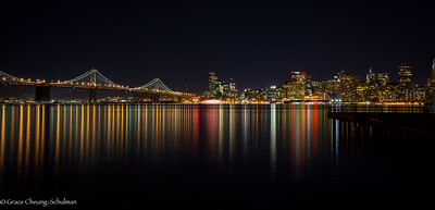 View of the Bay Bridge from Treasure Island