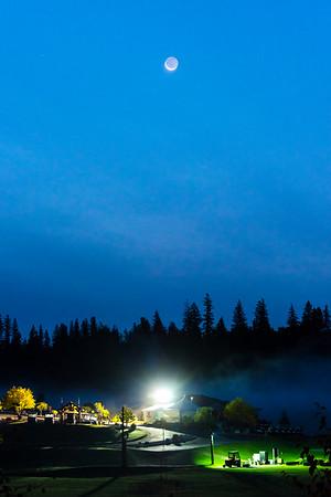 Crescent Moon Over Aberdeen Glen