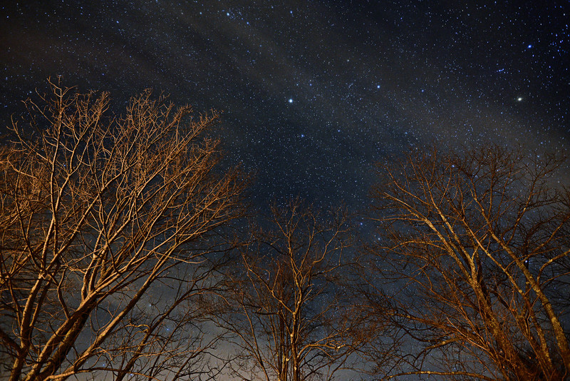 Night sky in the Catskills