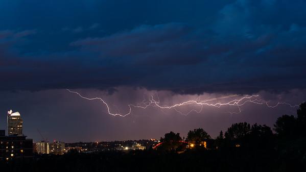 Lightning over Calgary