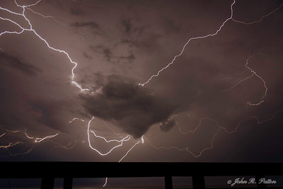 Lightning over the Atlantic