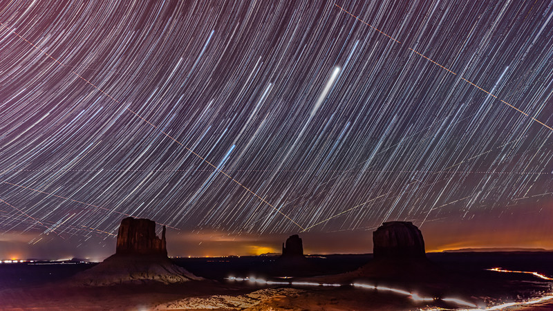 Stars in Monument Valley