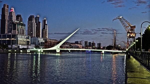 Buenos Aires - Puerto Madero - Puente de la Mujer