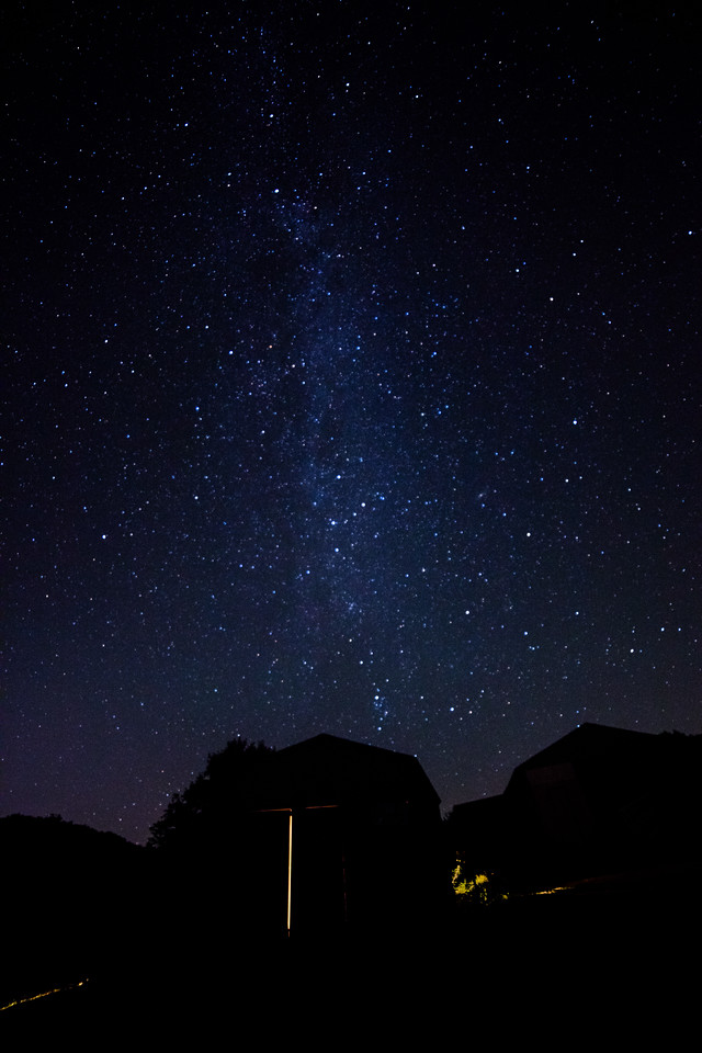Milky Way over Schloss Hollow Cabin
