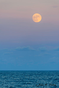 Full moon. Vero Beach. Florida. USA.